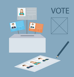 vote design vector image