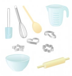 baking utensils vector image