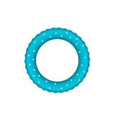 blue pool ring with white dots vector image vector image