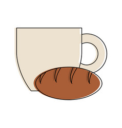 coffee and bread vector image