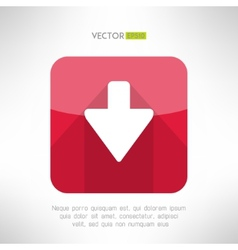 Download icon im modern flat design Clean and vector image vector image