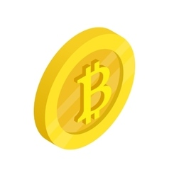 Gold coin with baht sign icon isometric 3d style vector image
