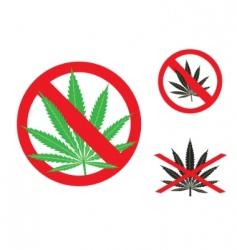 hemp is forbidden vector image vector image