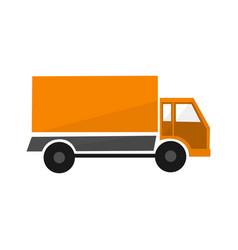 orange delivery car logistic transport vector image