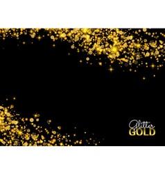 Abstract sparkling luminous golden grainy abstract vector