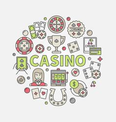 colorful casino vector image