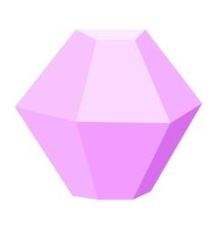 gemstone diamond colorful stone isolated on white vector image vector image