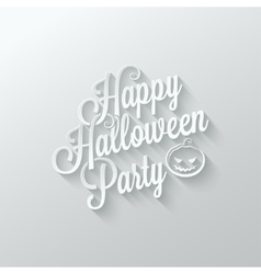 halloween party cut paper lettering background vector image vector image