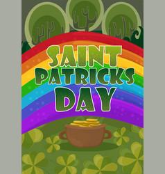 saint patricks day card design - treasure of vector image