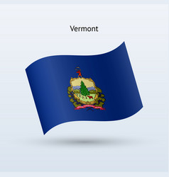 state of vermont flag waving form vector image