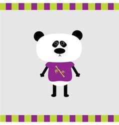 Cartoon panda boy card vector image