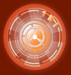 Cyber information gears abstract background vector image