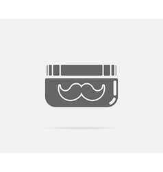 Grease gel moustache mustache element or icon vector