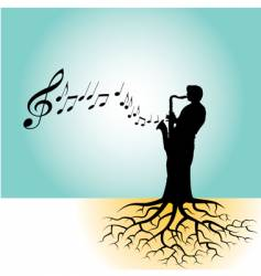 sax roots vector image vector image