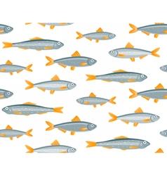 Sprats seamless pattern vector image