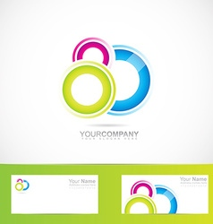 Abstract colored circles logo vector image
