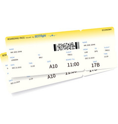 airplane ticket template vector image