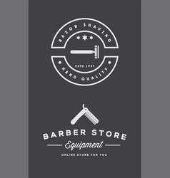 barbershop or hairdressing salon set of vector image