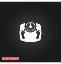bathroom scale with footprints - icon vector image