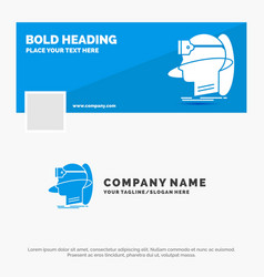 blue business logo template for human man reality vector image