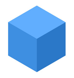 blue smart cube icon isometric style vector image