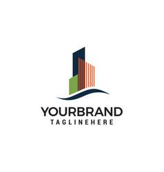 building town logo design template vector image