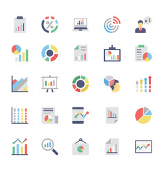 Business charts and diagrams colored icons 2 vector