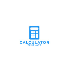 calculator graphic design template vector image