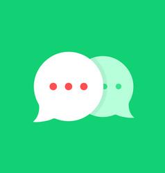 Cartoon simple online chat bubbles vector