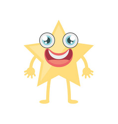 Cartoon star ornament birthday vector