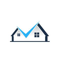 Check house logo icon design vector