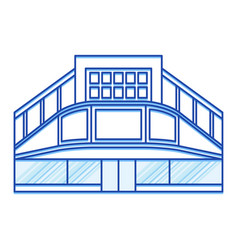 cinema shopping center lines icon vector image
