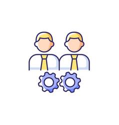 Collaboration rgb color icon vector