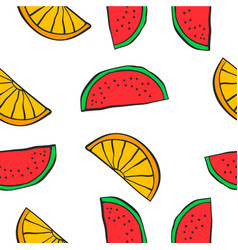Collection of fruit sytle pattern vector