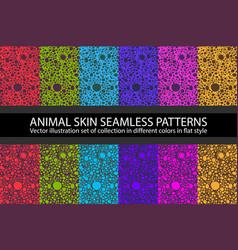color circles animal skin seamless pattern vector image