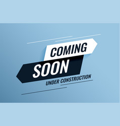 coming soon under construction background design vector image