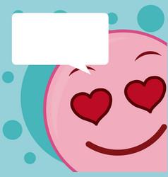 Cute emoji cartoon concept vector