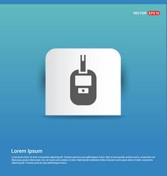 Diabetes glucometer icons - blue sticker button vector