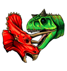 Dinosaur full color suitable vector
