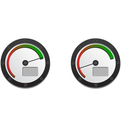 Downloads speedometer with two emblems for slow vector