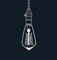 drawing an edison lightbulb vector image