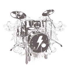 Drums emblem vector