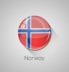 European flags set - Norway vector image