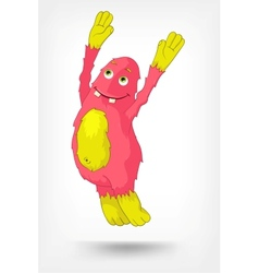 Funny Monster Jumping vector
