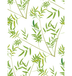 green bamboo leaves vector image