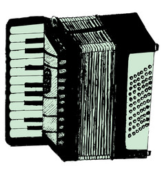 Grunge retro accordion vector