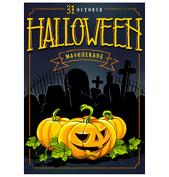 halloween invitation card design vector image