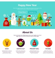 Happy New Year Web Design vector image