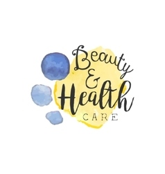 Healthcare And Beauty Promo Sign vector