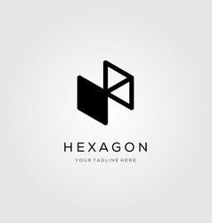 hexagon logo letter h symbol icon design vector image